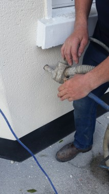 Pumping cavity wall